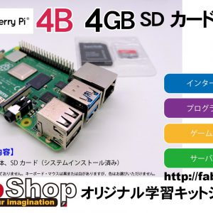 Raspberry Pi 4B 4GB SDカードセット